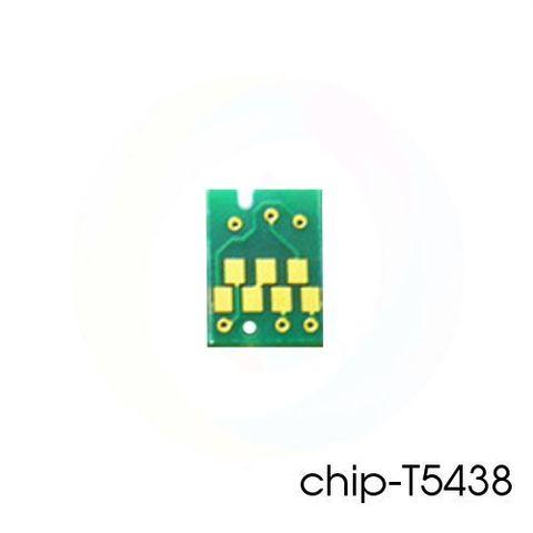 Чип T5438 матовый черный для перезаправляемых картриджей (ПЗК/ДЗК) плоттеров Epson Stylus Pro 4000, 4400, 4800, 7600, 9600