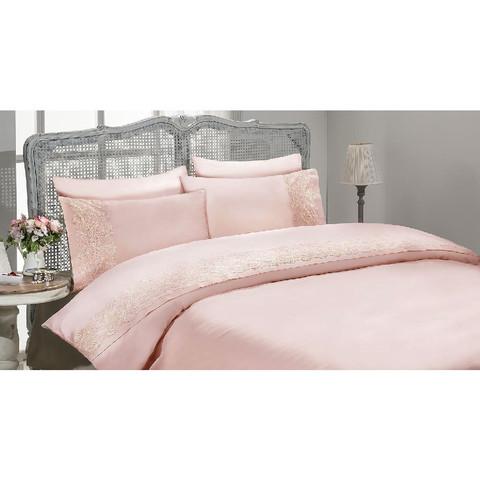 Постельное белье Gelin Home Gulru розовый евро
