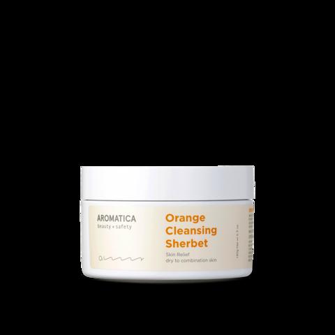 Твёрдый бальзам-шербет для снятия макияжа, 180 г / Aromatica Orange Cleansing Sherbet