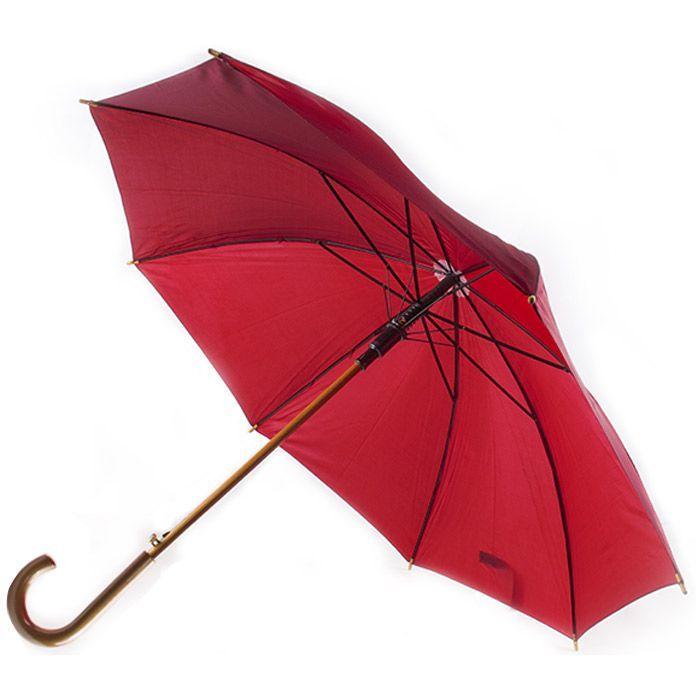 """Зонт-трость с деревянной изогнутой ручкой """"Хит"""""""