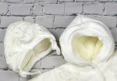 Набор для выписки из роддома зимний Beauty белый