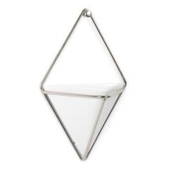 Декор для стен Trigg, маленький, белый/никель Umbra