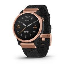 Мультиспортивные часы Garmin Fenix 6S Sapphire - розовое золото с черным нейлоновым ремешком 010-02159-37