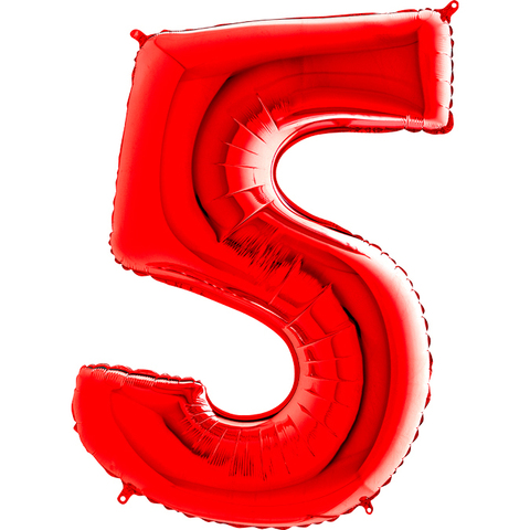 Цифра 5 (Красная)