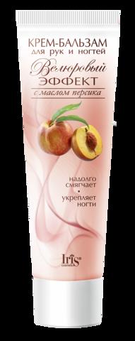 Iris Велюровый эффект Крем-бальзам для рук и ногтей с маслом персика 100мл