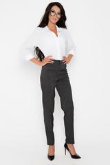 Классические офисные брюки прямого силуэта. Удобная высокая посадка. Длина по внутреннему шву - 77см