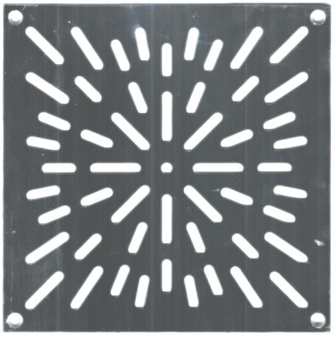 Решётка напольная 200х200 (вариант 2) из нержавеющей стали