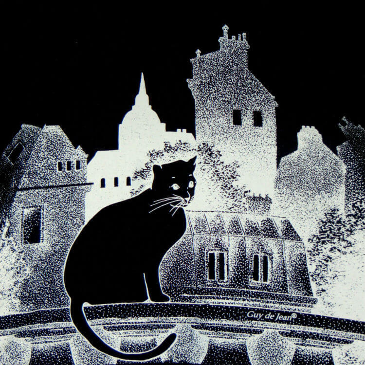 Зонт складной Guy de Jean Chat Noir