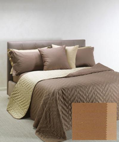 Покрывало 170x270 Caleffi Mix Double светло-коричневое