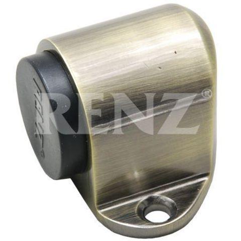 Фурнитура - Ограничитель Дверной напольный Renz DS 31, цвет бронза античная