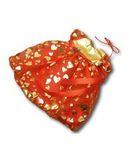 Платье рождественское - Красный / золото. Одежда для кукол, пупсов и мягких игрушек.