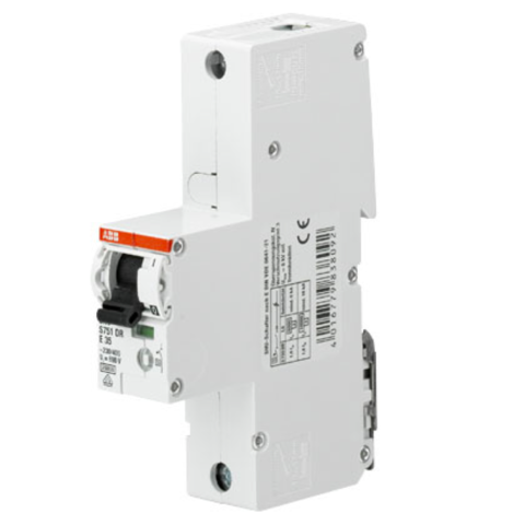 Автоматический выключатель 1-полюсный селективный 25 A, тип E, 25 кA S751DR-E25. ABB. 2CDH781010R0252