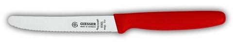 Нож универсальный Giesser 8365 wsp 11см волнистый красный