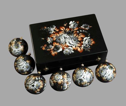 Набор из 6 елочных шаров в шкатулке SET04D-667785788