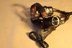 Налобный Фонарь налобный HT-693-P50. Заряжается через разъем micro USB. Режим POWER BANK.