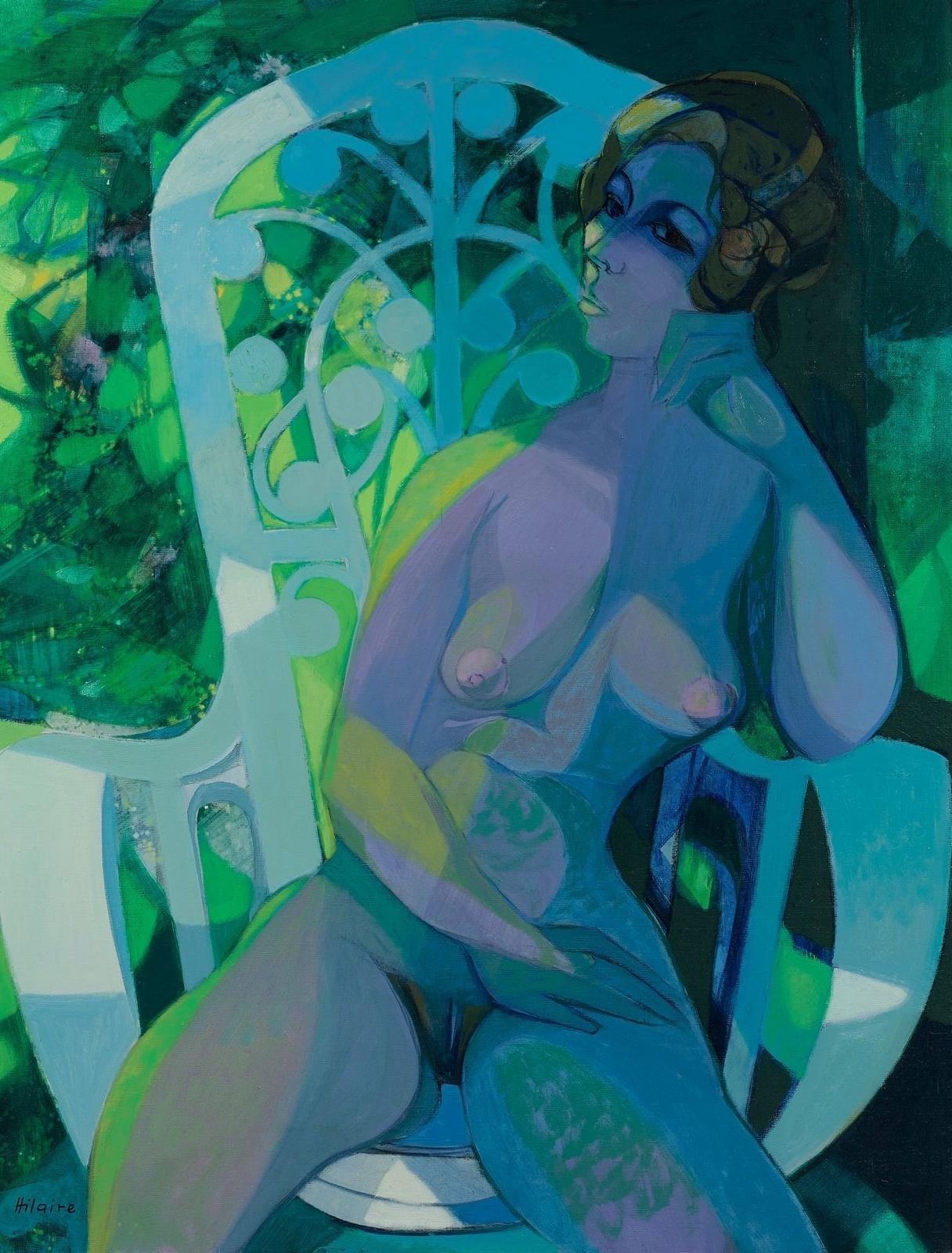 Камиль Илер. Обнаженная в саду (Naked In The Garden). 116 х 89 см. Частное собрание