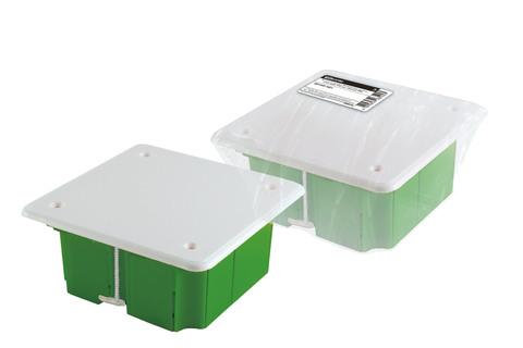 Распаячная коробка СП 92х92х45мм, крышка, метал. лапки, IP20, TDM