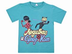 BK002F-22 футболка для девочек, бирюзовая