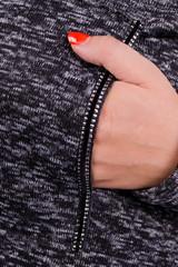 Стрит. Модный кардиган для дам с пышными формами. Черный.
