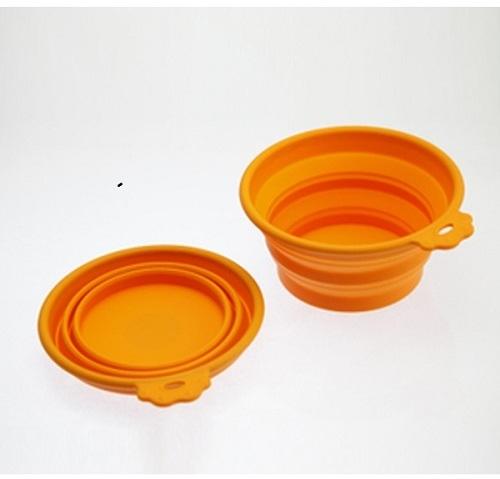 Собаки Миска силиконовая складная малая 350 мл оранжевая, SuperDesign 19041.jpg