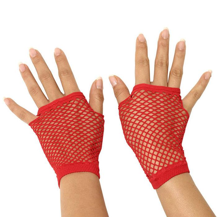 Перчатки и аксессуары: Митенки в мелкую сетку