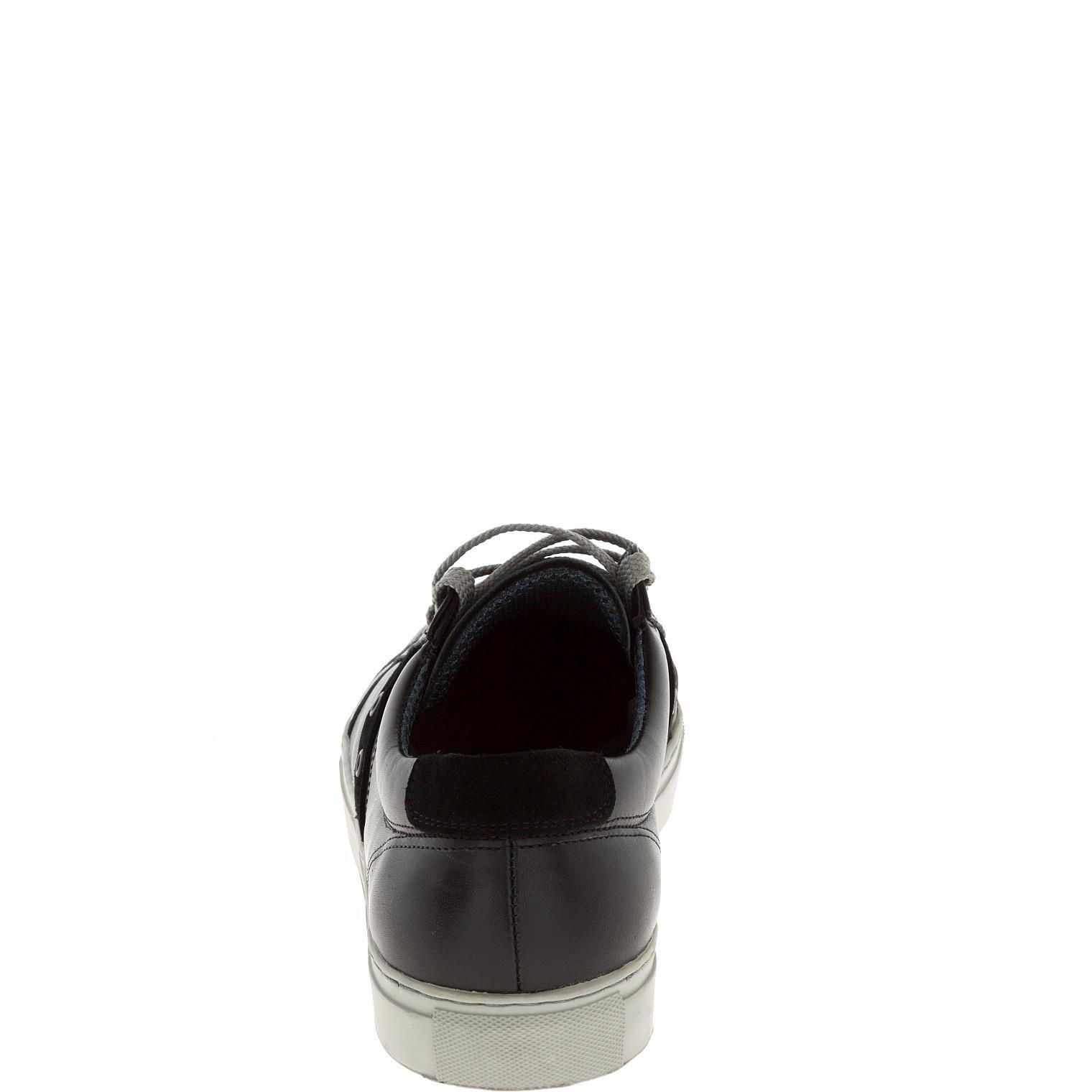 547308 полуботинки мужские черные (кеды) больших размеров марки Делфино