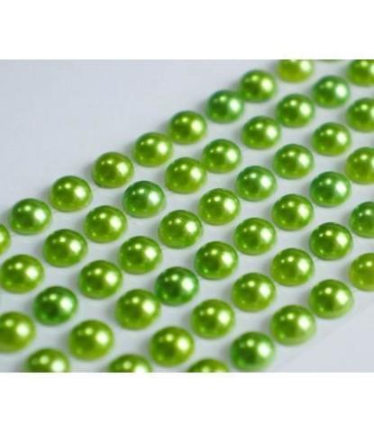Стразы жемчуг оливковые 5 мм 84 шт