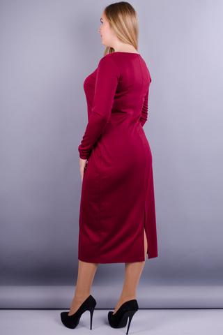 Мирослава француз. Сукня великих розмірів. Бордо.