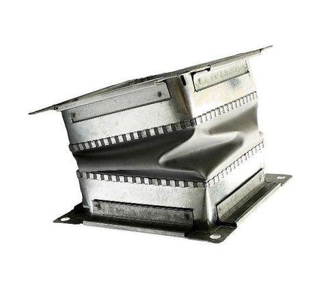 Гибкая вставка 140х140мм с фланцем для вентиляторов ВР 300-45 2,0