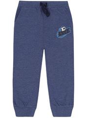 BAC004700 Брюки спортивные детские, синий меланж