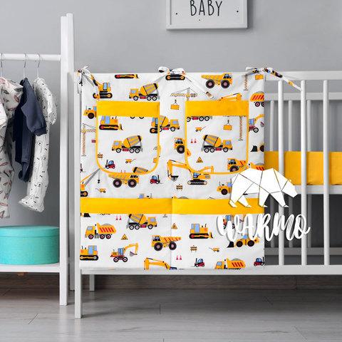 органайзер для ліжечка з будівельною технікою фото