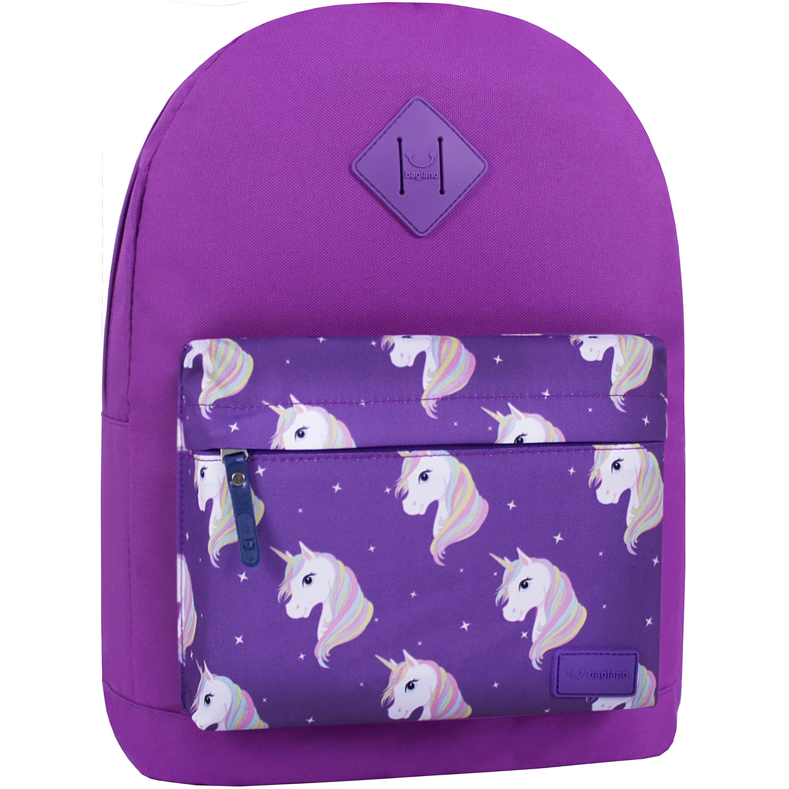Городские рюкзаки Рюкзак Bagland Молодежный W/R 17 л. 339 Фиолетовый 747 (00533662) IMG_7439_суб.747_.JPG