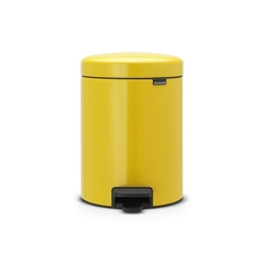 Ведро для мусора Brabantia NewIcon желтая маргаритка 5л