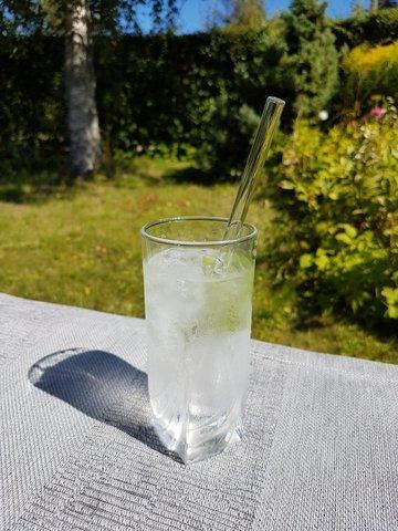 Трубочка стеклянная прямая прозрачная
