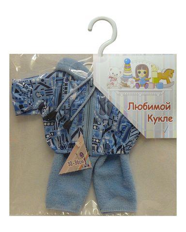 Костюм с курткой - Голубой. Одежда для кукол, пупсов и мягких игрушек.