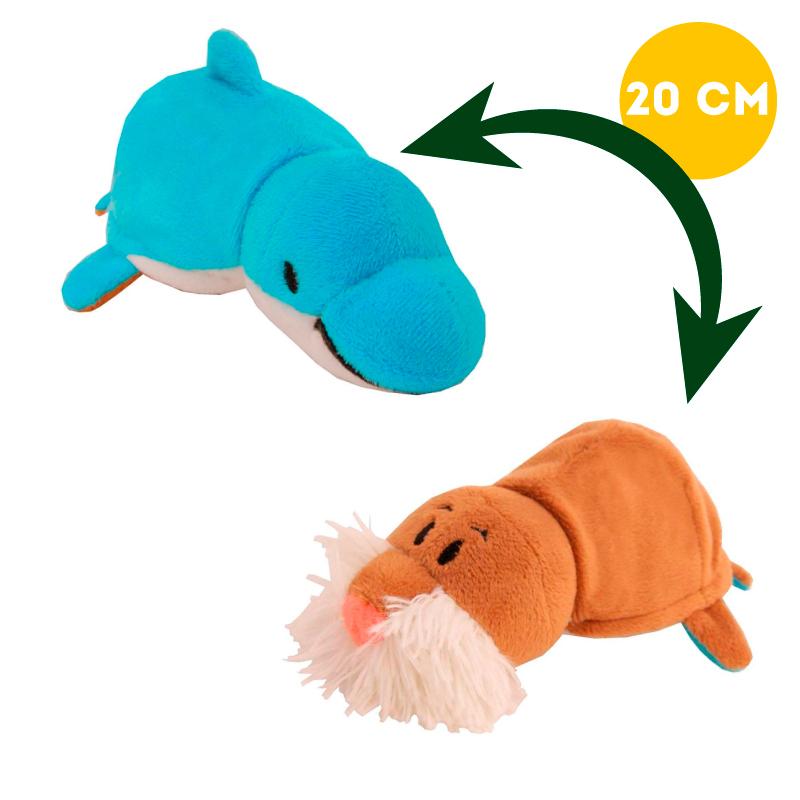 Вывернушка 2в1 Морж-Дельфин, 20 см - Вывернушки, артикул: 963256