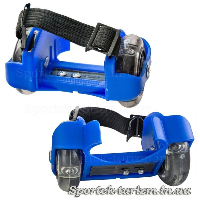 Роликовые коньки на пятки со светодиодной подсветкой Small Whirlwind Pulley HJ-A16