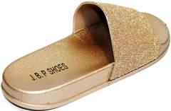 Летние сланцы женские J.B.P. Shoes NU25 Gold.