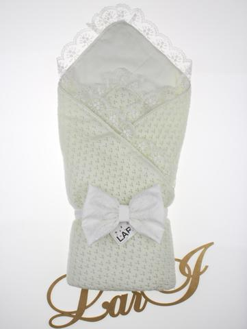 Конверт одеяло Нежность (кремовый) из вязаного полотна