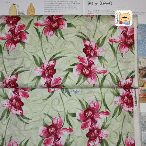 Американский хлопок 20998 (орхидеи) 45х55см