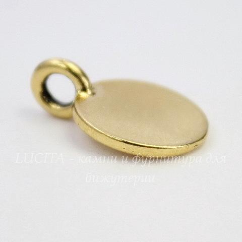 "Подвеска TierraCast ""Буква D"" (цвет-античное золото) 17х12 мм"