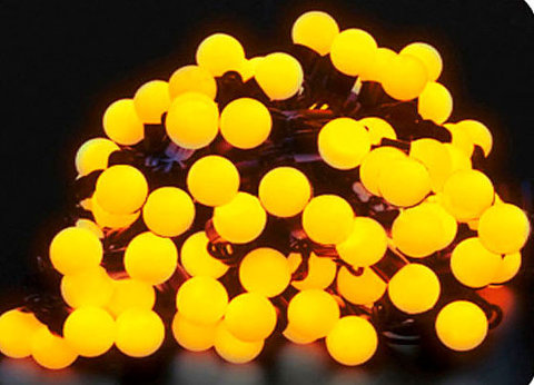 Гирлянды шарики 10 м 100 led желтые