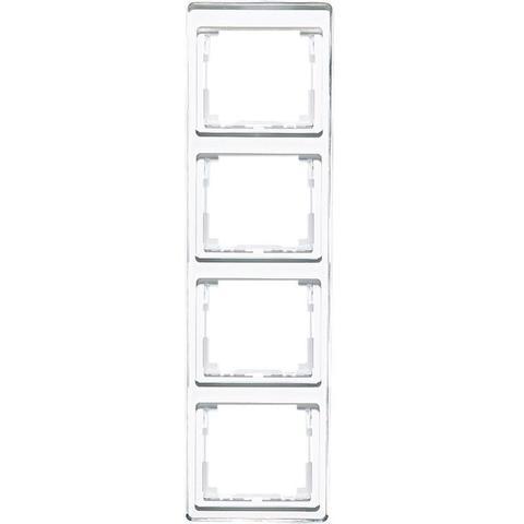 Рамка на 4 поста, вертикальная. Цвет Белый. JUNG SL. SL584WW