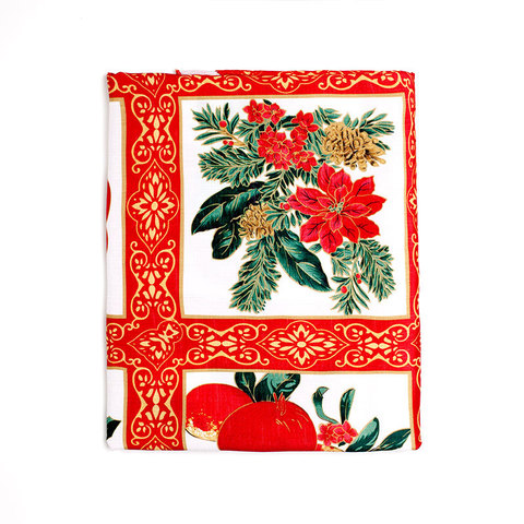 Скатерть 152х213 Carnation Home Fashions Christmas Fabric Tablecloths Holiday Cheer