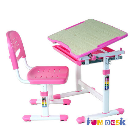 Комплект: парта и стул-трансформеры PICCOLINO розовый