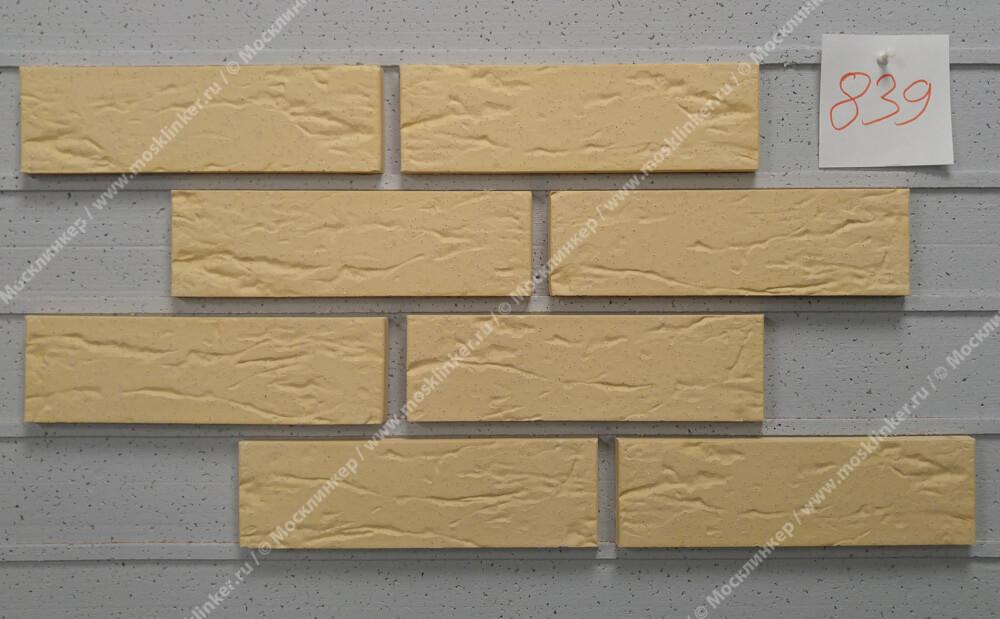 Roben - Rimini, gelb, NF14, 240x14x71, мерейная, с песочной пылью (genarbt, besandet) - Клинкерная плитка для фасада и внутренней отделки