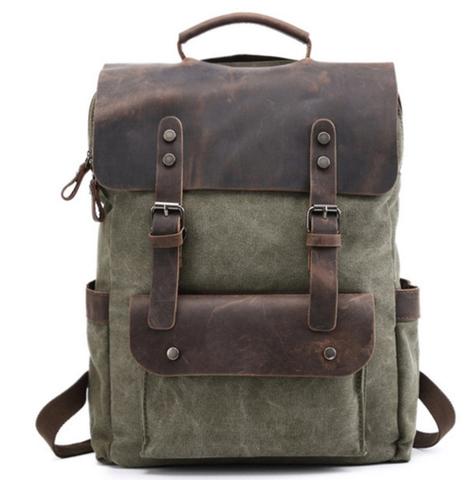 Рюкзак из ткани и кожи BUG 067 Green