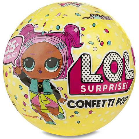 Кукла-сюрприз MGA Entertainment в шаре LOL Surprise 3 Confetti POP, 8 см