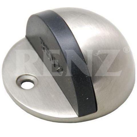 Фурнитура - Ограничитель Дверной напольный Renz DS 44 , цвет никель матовый
