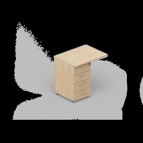 Приставная тумба (4 ящика) с топом